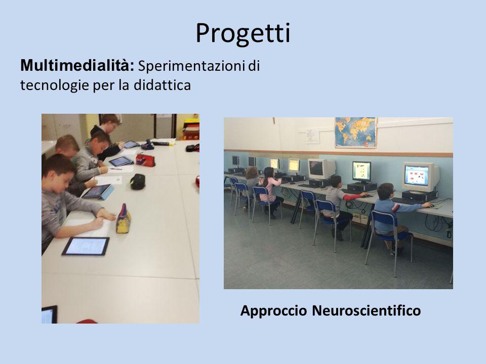 Progetti Approccio Neuroscientifico Multimedialità: Sperimentazioni di tecnologie per la didattica