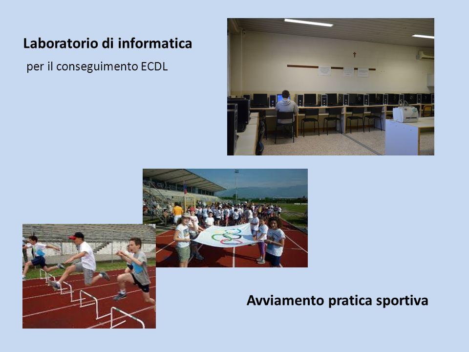 Laboratorio di informatica per il conseguimento ECDL Avviamento pratica sportiva