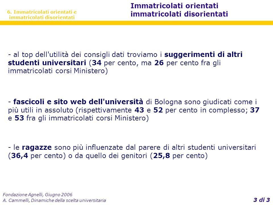Fondazione Agnelli, Giugno 2006 A.