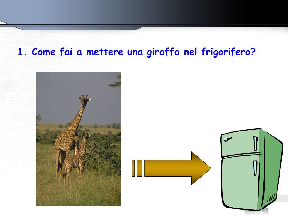 1.Come fai a mettere una giraffa nel frigorifero?