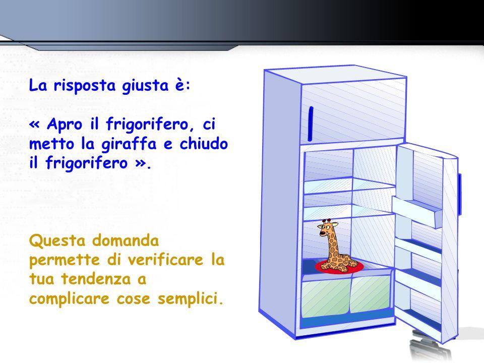 2. Come fai a mettere un elefante nel frigorifero?