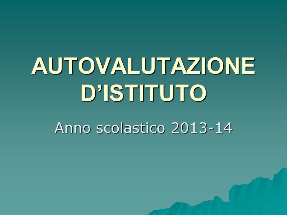 AUTOVALUTAZIONE DISTITUTO Anno scolastico 2013-14