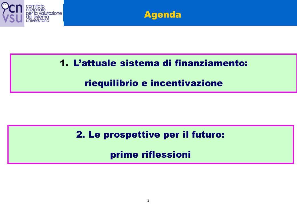 3 1.Lattuale sistema di finanziamento: riequilibrio e incentivazione 1A.