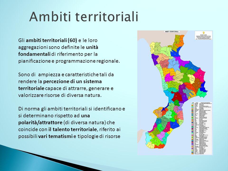 Ambiti territoriali Gli ambiti territoriali (60) e le loro aggregazioni sono definite le unità fondamentali di riferimento per la pianificazione e pro