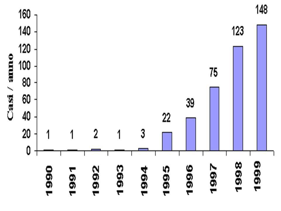 Figura 1. Pazienti in NAD: casi/anno