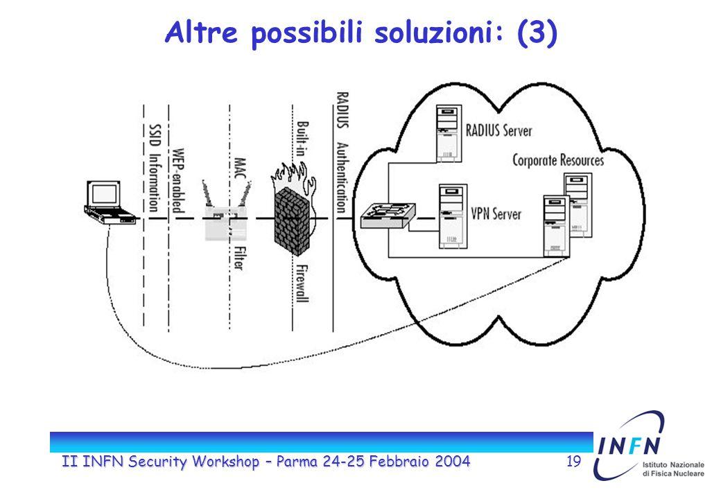 II INFN Security Workshop – Parma 24-25 Febbraio 200419 Altre possibili soluzioni: (3)