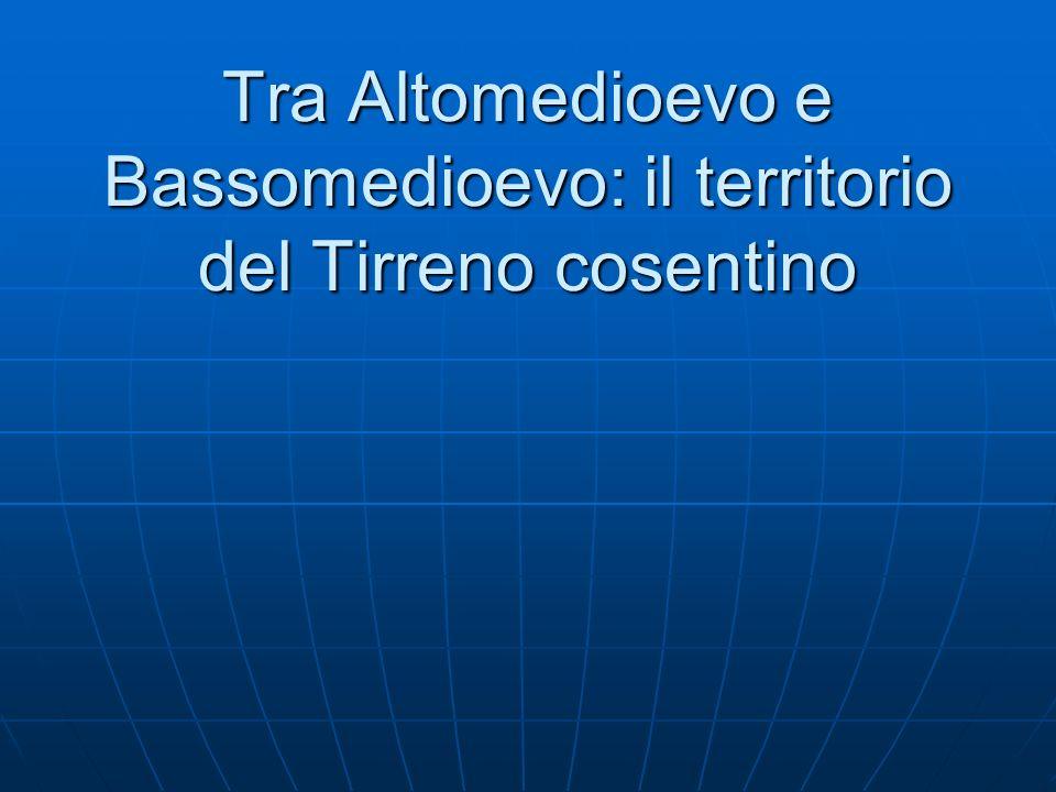 DAL IV AL VI SEC.: TARDOANTICO DAL VI AL X SEC.: ALTOMEDIOEVO DAL X AL XV SEC.: BASSOMEDIOEVO DAL XV SEC.
