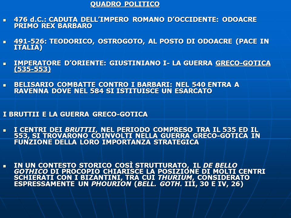 QUADRO POLITICO 476 d.C.: CADUTA DELLIMPERO ROMANO DOCCIDENTE: ODOACRE PRIMO REX BARBARO 476 d.C.: CADUTA DELLIMPERO ROMANO DOCCIDENTE: ODOACRE PRIMO