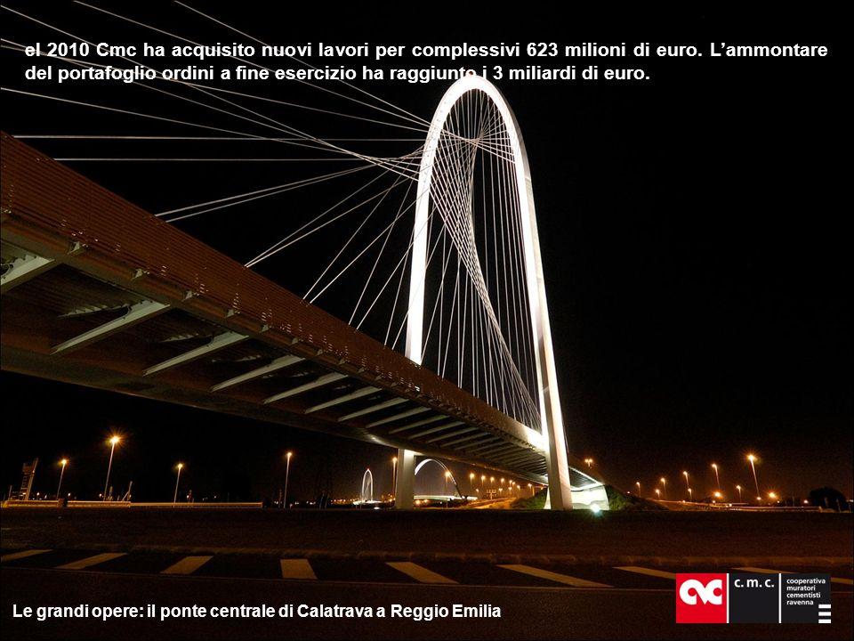 N el 2010 Cmc ha acquisito nuovi lavori per complessivi 623 milioni di euro.