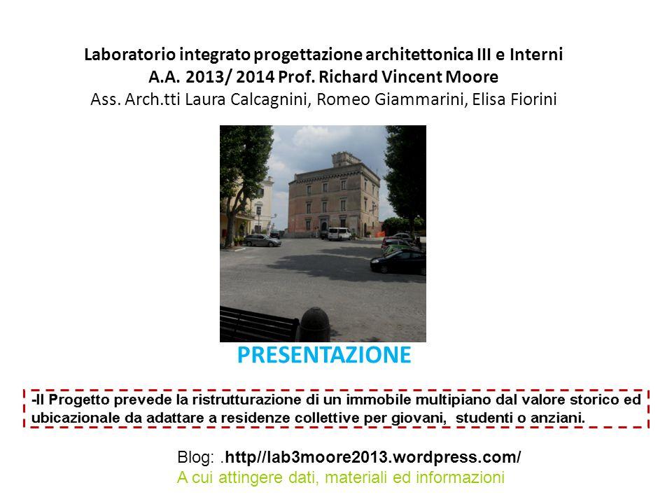 Laboratorio integrato progettazione architettonica III e Interni A.A.