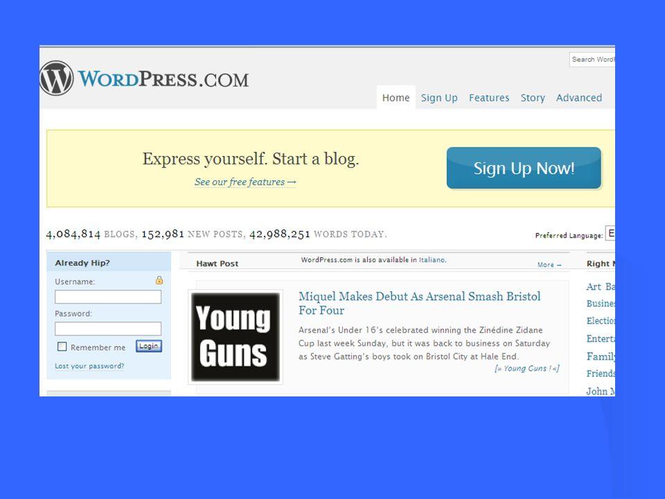 Le categorie sono le rubriche del blog