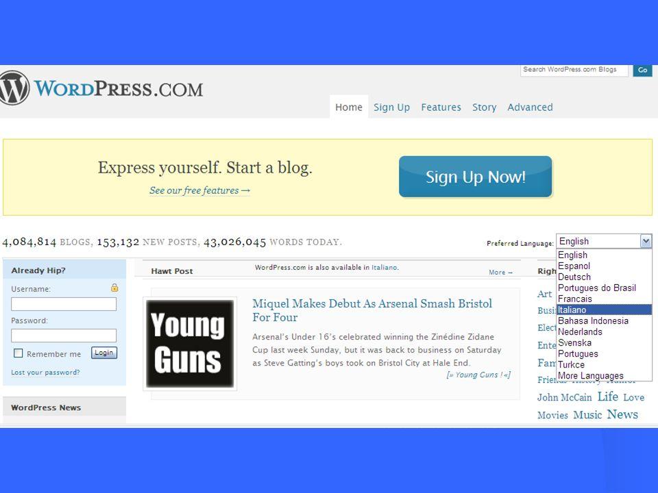 Puoi cambiare titolo al Blog
