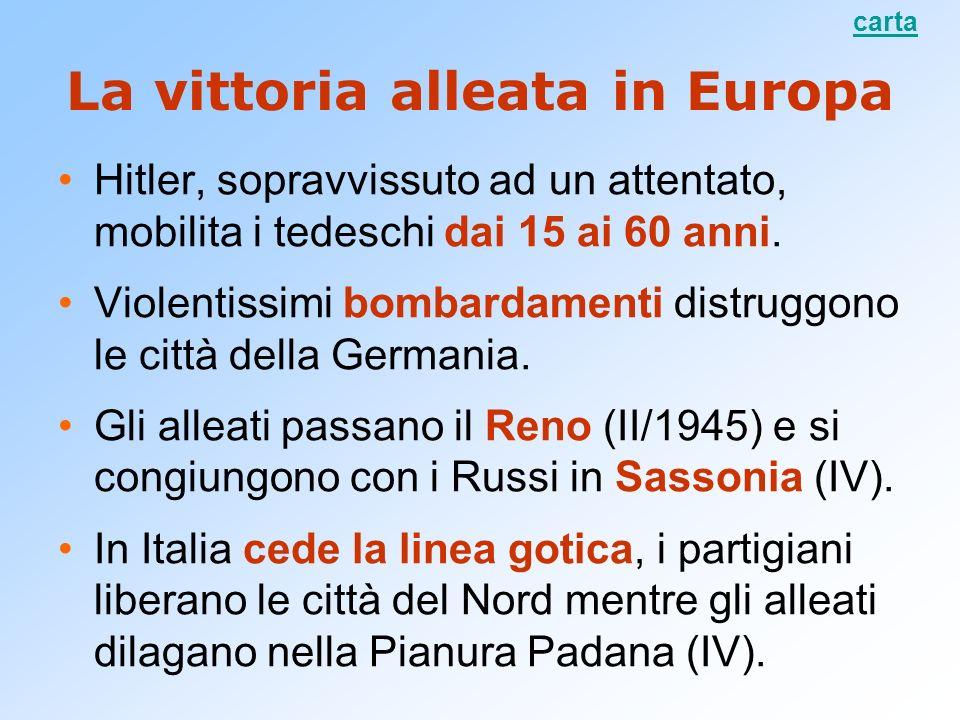 La vittoria alleata in Europa Hitler, sopravvissuto ad un attentato, mobilita i tedeschi dai 15 ai 60 anni. Violentissimi bombardamenti distruggono le