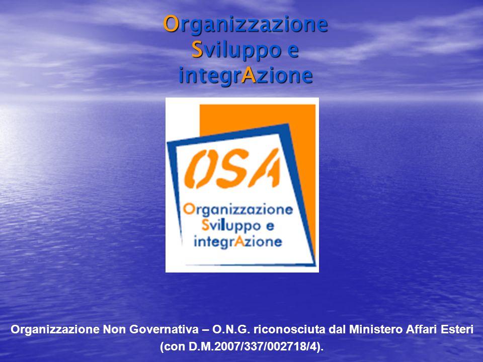 Organizzazione Non Governativa – O.N.G.
