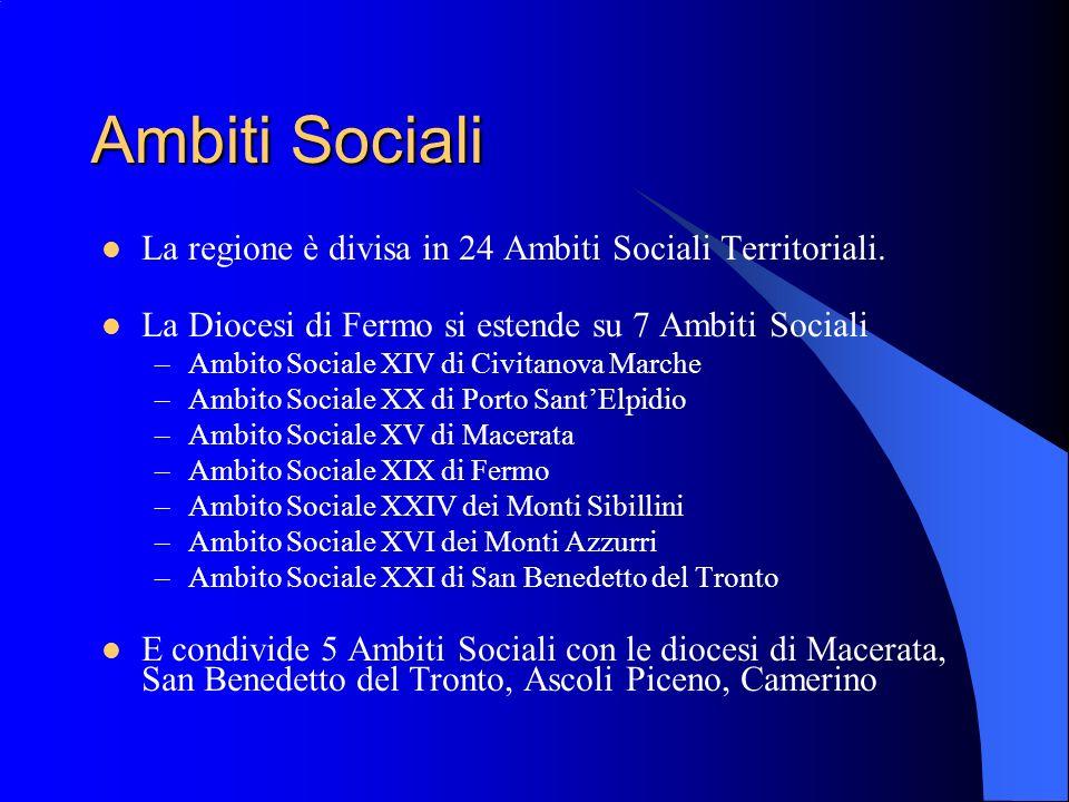 Ambiti Sociali La regione è divisa in 24 Ambiti Sociali Territoriali.