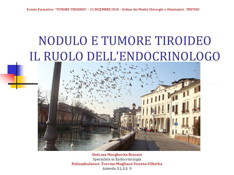 QUALE CHIRURGIA K MIDOLLARE N 0 + CT < 400 pg/ml TT + Profilassi N livello VI N 1 o CT > 400 pg/ml + M 0 o M 1 < 1cm TT + Profilassi N livello VI e livelli con N+ M 1 estesa Tiroidectomia palliativa ATA Medullary Thyroid Cancer Guideline Thyroid 2009 VEN-FOR38877- TUMORE TIROIDEO Dott.ssa M.
