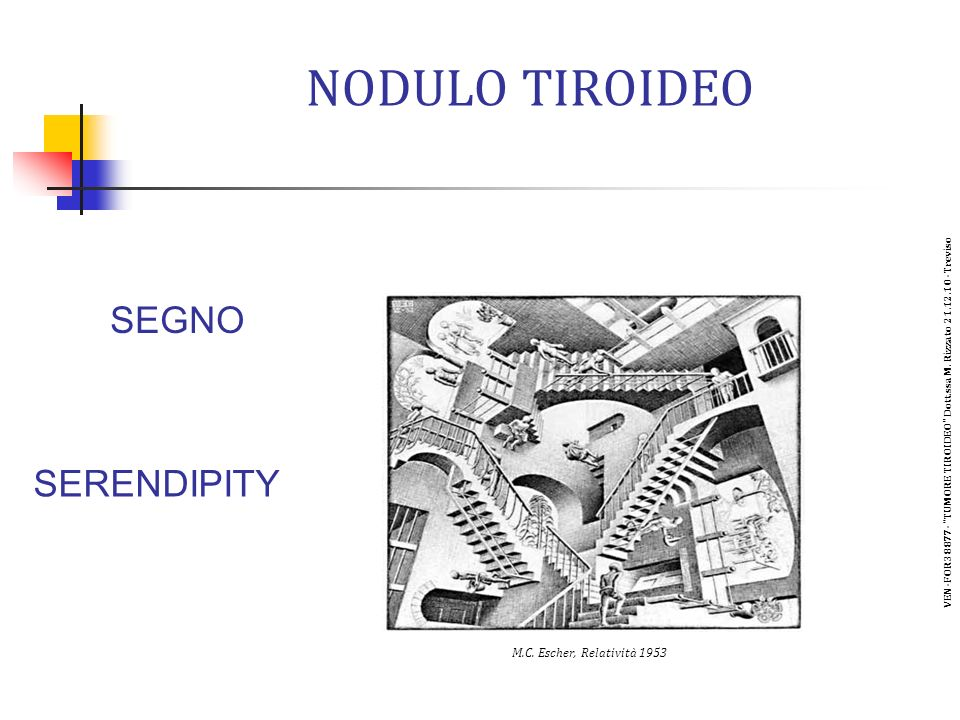 NODULO TIROIDEO SEGNO SERENDIPITY M.C.