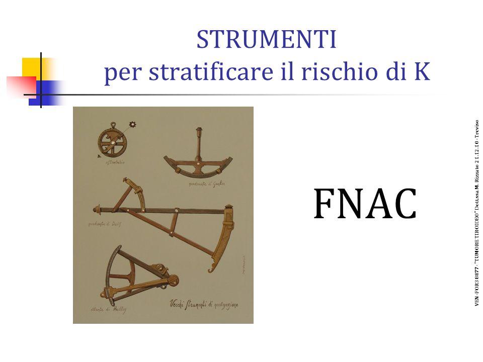 STRUMENTI per stratificare il rischio di K FNAC VEN-FOR38877- TUMORE TIROIDEO Dott.ssa M.