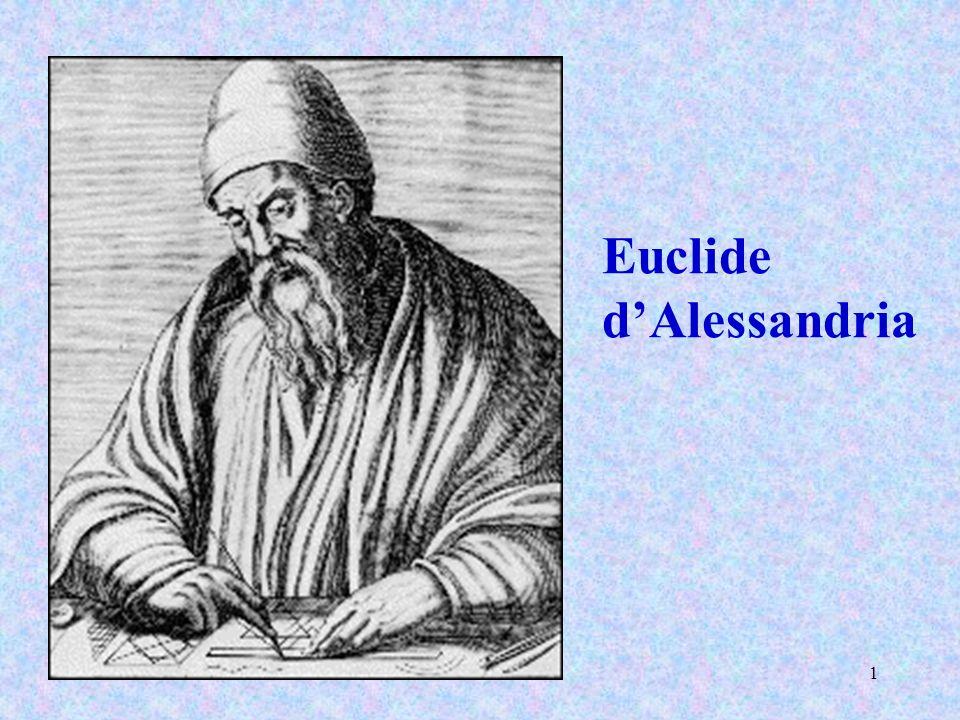 2 Euclide raccolse gli Elementi, ne ordinò in sistema molti di Eudosso, ne perfezionò molti di Teeteto e ridusse a dimostrazioni inconfutabili quelli che i suoi predecessori avevano poco rigorosamente dimostrato.