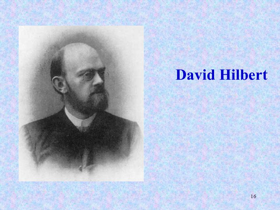 16 David Hilbert