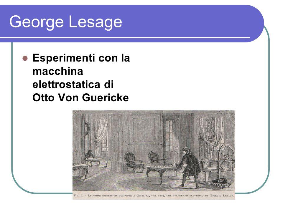 George Lesage Esperimenti con la macchina elettrostatica di Otto Von Guericke