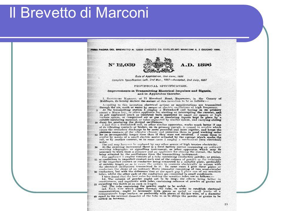 Il Brevetto di Marconi