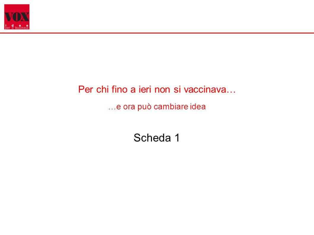 1 Per chi fino a ieri non si vaccinava… …e ora può cambiare idea Scheda 1