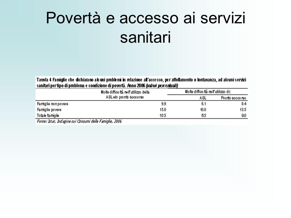Povertà e accesso ai servizi sanitari