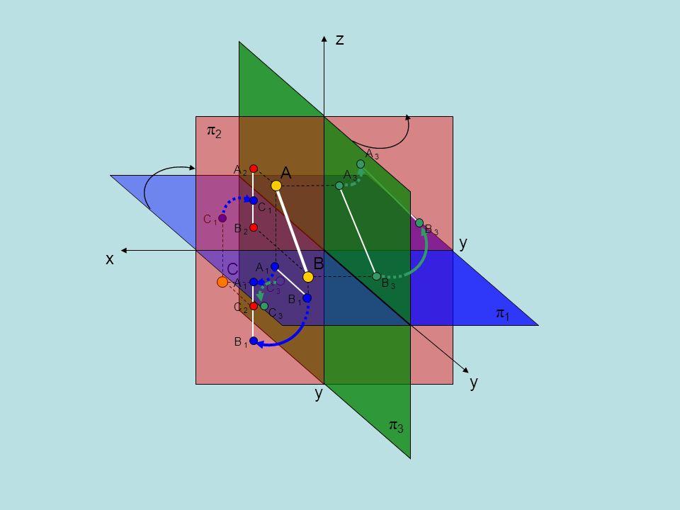 5.Trovare la vera grandezza del segmento che i piani di prospetto (π 1 ) e di profilo (π 3 ) intercettano sulla retta di tracce R e R R R 1 RR 2