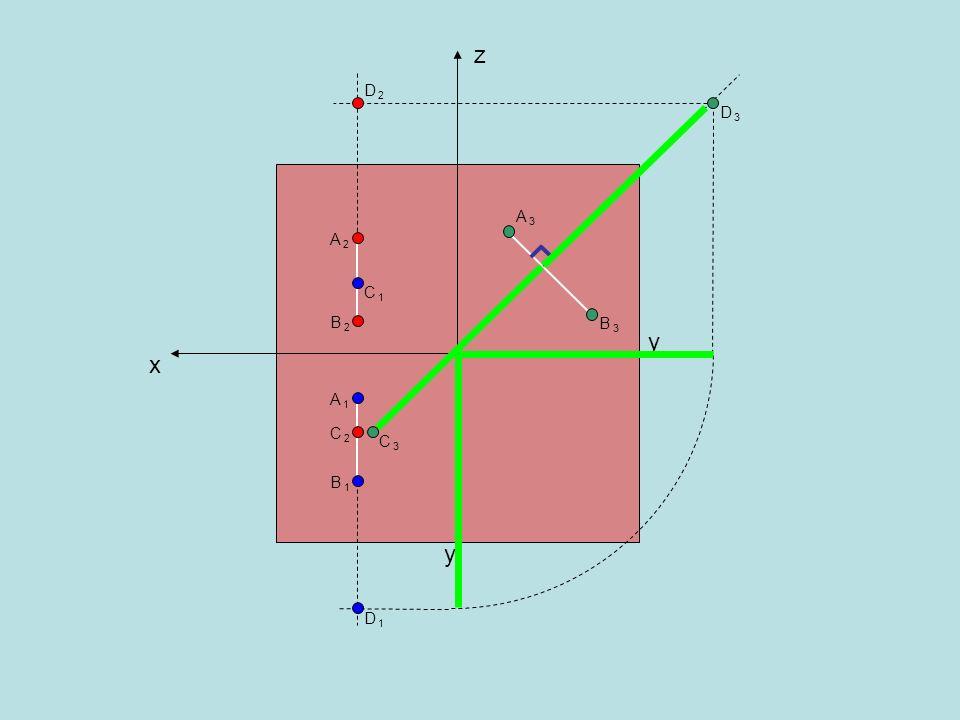 2.Trovare le tre proiezioni delle tre tracce della retta r senza disegnare la seconda proiezione della retta stessa r3r3 r1r1