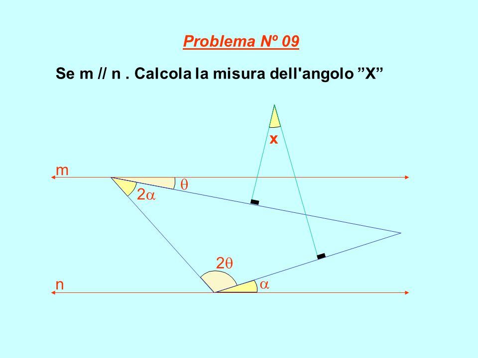 Se m // n. Calcola la misura dell'angolo X 2 x m n 2 Problema Nº 09
