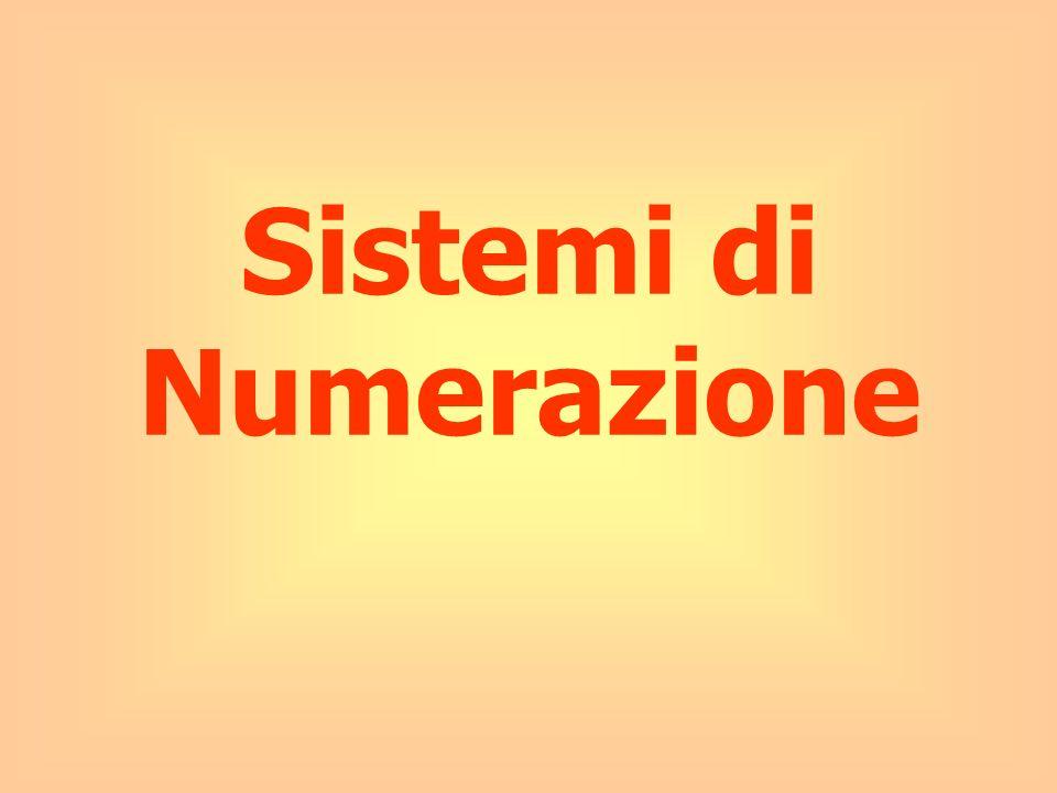 5 Numero e Numerale Entità astratta; idea che si ha della quantità.