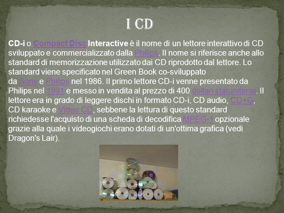 CD-i o Compact Disc Interactive è il nome di un lettore interattivo di CD sviluppato e commercializzato dalla Philips.