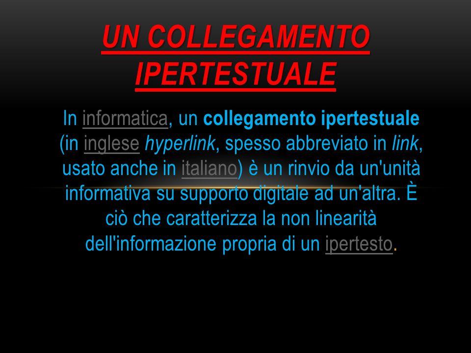 In informatica, un collegamento ipertestuale (in inglese hyperlink, spesso abbreviato in link, usato anche in italiano) è un rinvio da un'unità inform