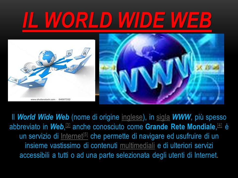 Il World Wide Web (nome di origine inglese), in sigla WWW, più spesso abbreviato in Web, [3] anche conosciuto come Grande Rete Mondiale, [4] è un serv