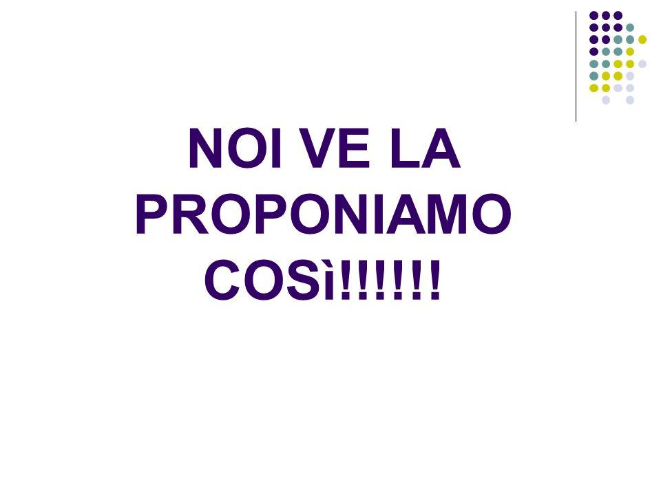 NOI VE LA PROPONIAMO COSì!!!!!!