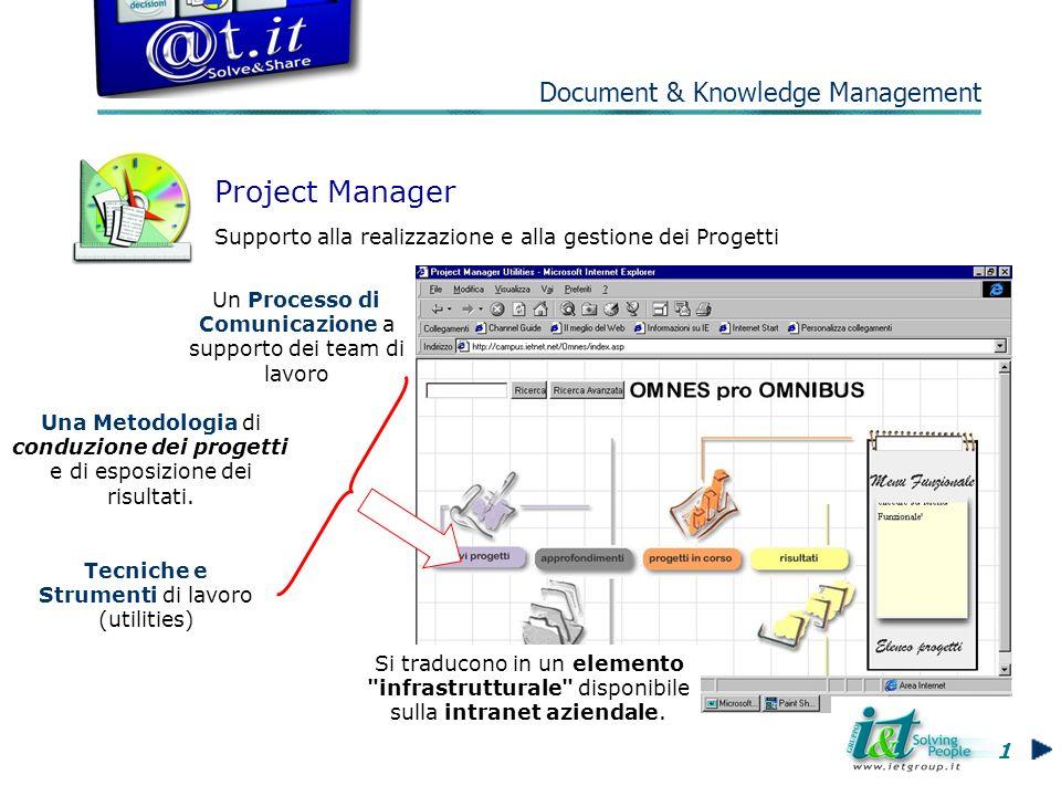 Una Metodologia di conduzione dei progetti e di esposizione dei risultati.