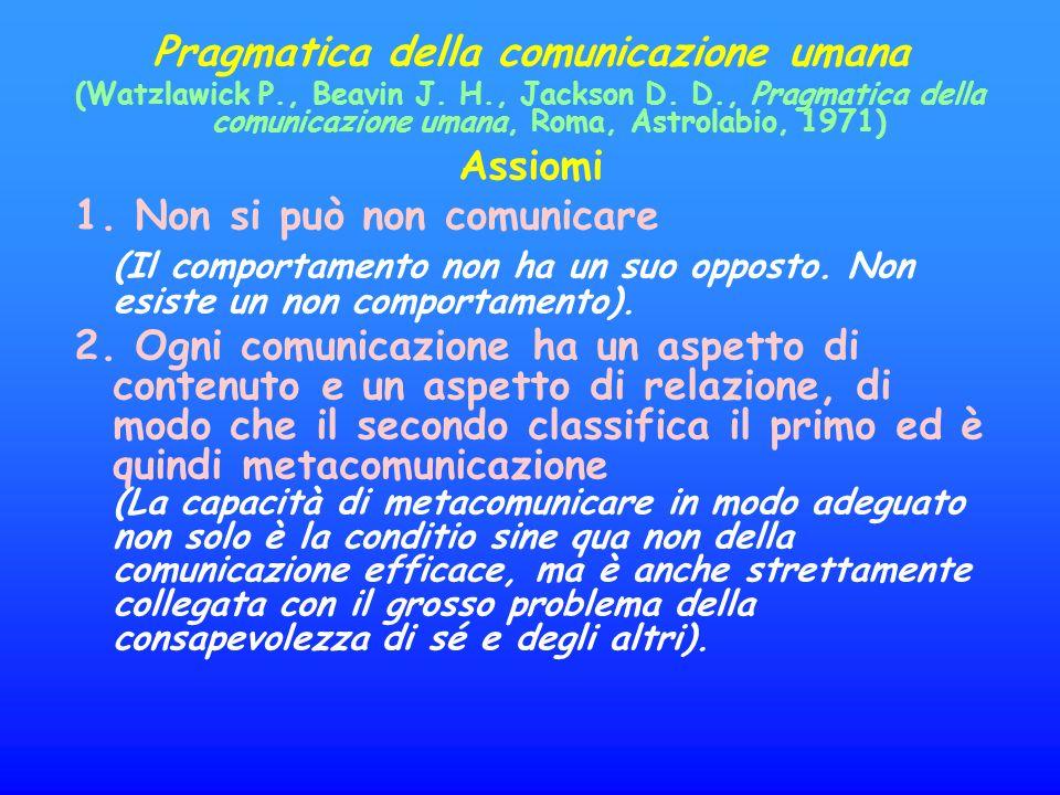 Pragmatica della comunicazione umana (Watzlawick P., Beavin J.