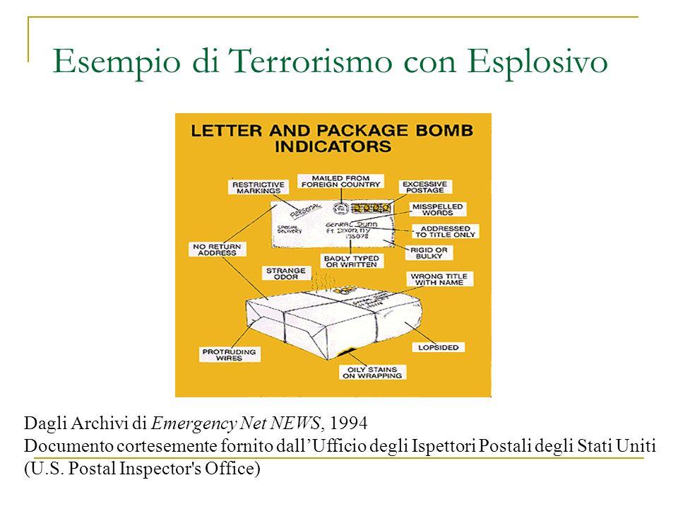 Dagli Archivi di Emergency Net NEWS, 1994 Documento cortesemente fornito dallUfficio degli Ispettori Postali degli Stati Uniti (U.S.