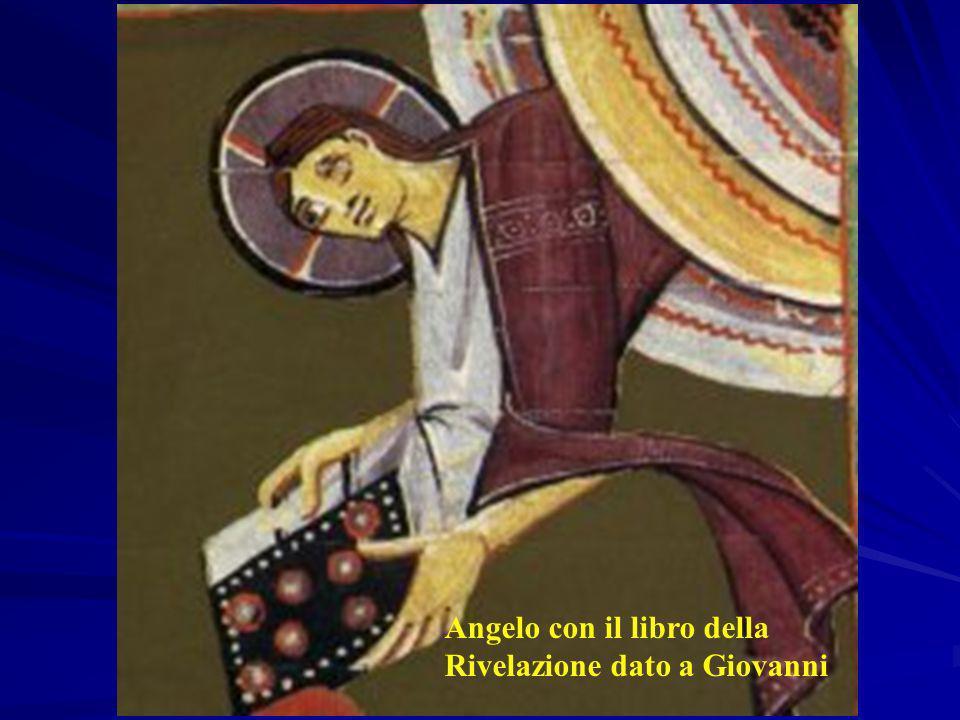 Angelo con il libro della Rivelazione dato a Giovanni