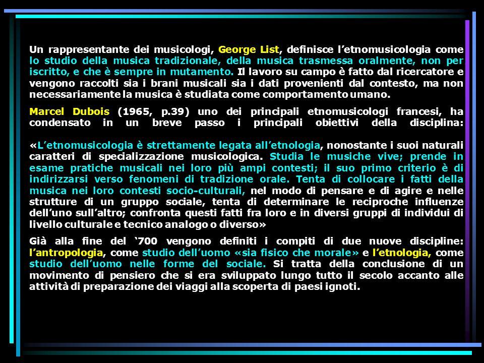 I pionieri della disciplina Lo studio scientifico della musica, con la quale letnomusicologia si riconosce e che fu quasi subito chiamata / musicologia comparata/ comincia negli anni Ottanta dellOttocento.