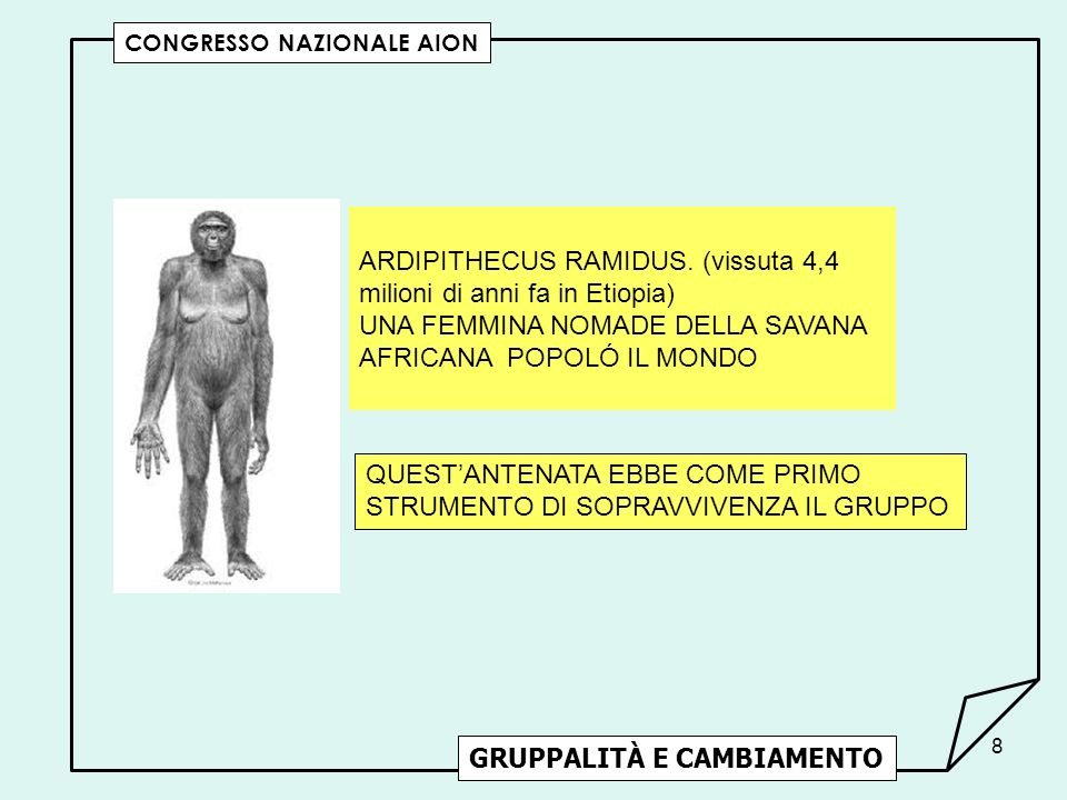 39 GRUPPALITÀ E CAMBIAMENTO CONGRESSO NAZIONALE AION SIAMO QUELLO CHE SCEGLIAMO DI ESSERE.