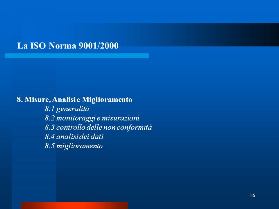 16 La ISO Norma 9001/2000 8.