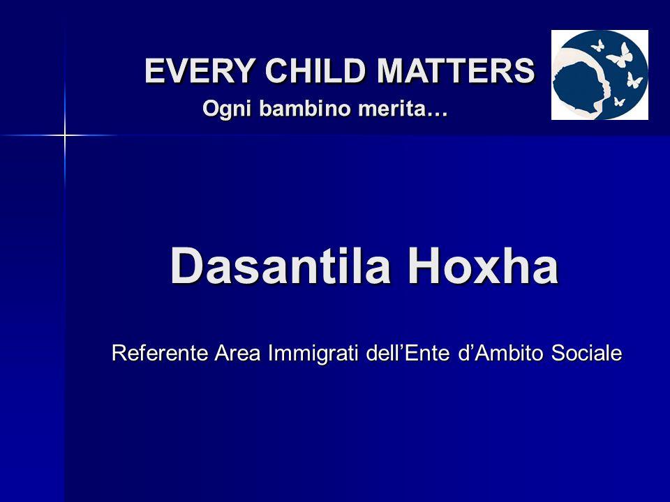 Antonietta Marchesani EVERY CHILD MATTERS Ogni bambino merita… EVERY CHILD MATTERS Ogni bambino merita… Referente Area Disabilità dellEnte dAmbito Sociale