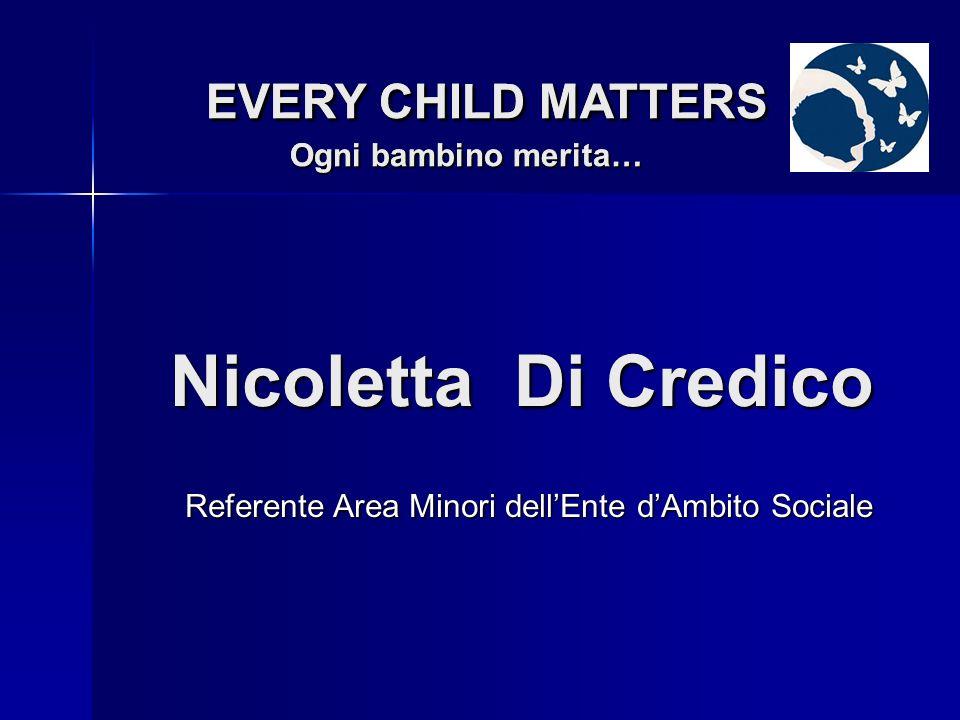 Dasantila Hoxha EVERY CHILD MATTERS Ogni bambino merita… EVERY CHILD MATTERS Ogni bambino merita… Referente Area Immigrati dellEnte dAmbito Sociale