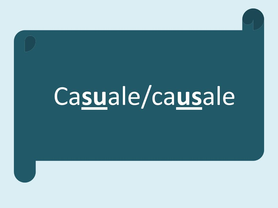 Casuale/causale