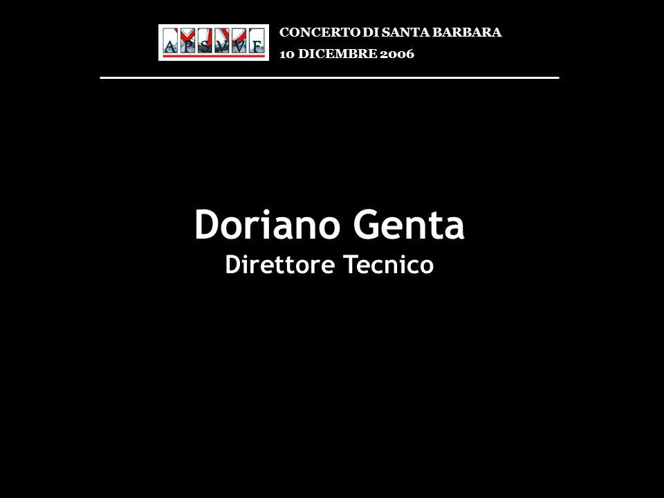 Doriano Genta Direttore Tecnico CONCERTO DI SANTA BARBARA 10 DICEMBRE 2006