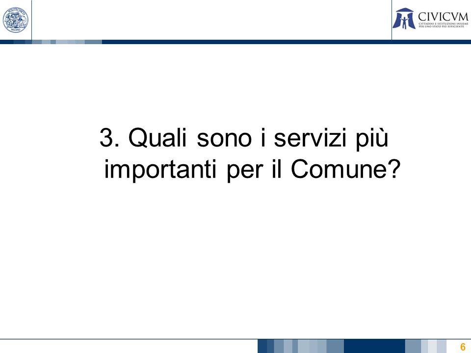 6 3. Quali sono i servizi più importanti per il Comune