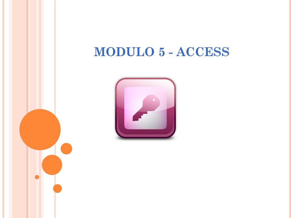 MODULO 5 - ACCESS