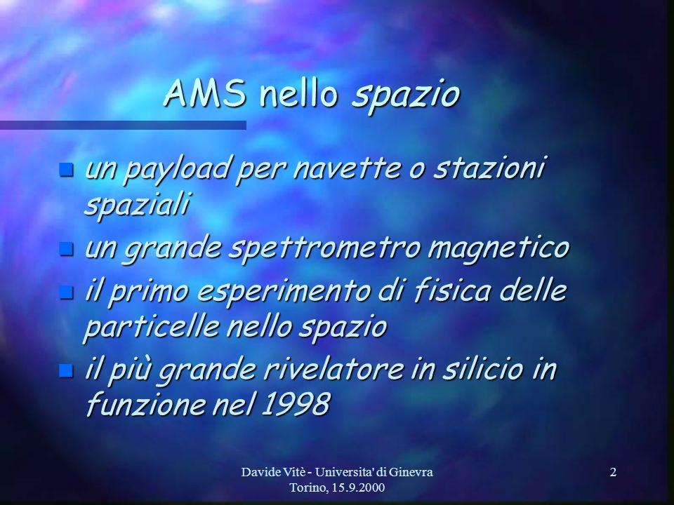Davide Vitè - Universita di Ginevra Torino, 15.9.2000 13 quindi…… (conclusioni) n Per il futuro, ci attende… –molto lavoro...